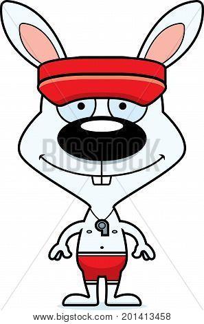 Cartoon Smiling Lifeguard Bunny