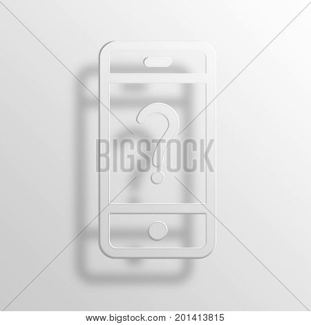 phone bill 3D Rendering Paper Icon Symbol Business Concept