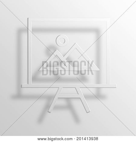 Photo Gallery 3D Rendering Paper Icon Symbol Business Concept
