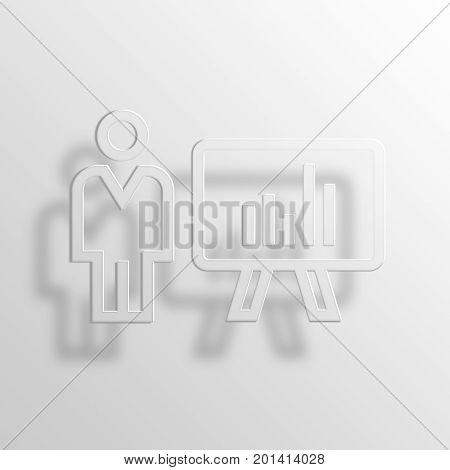 business presentation 3D PRendering aper Icon Symbol Business Concept