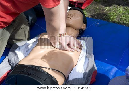 Training To Performance Of Artificial Breath On A Dummy.