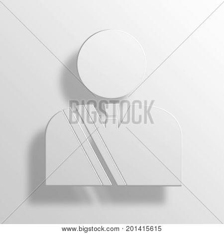 politician 3D Rendering Paper Icon Symbol Business Concept