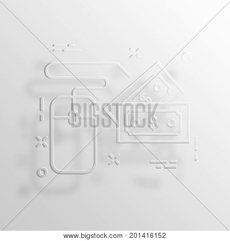 ppc 3D Rendering Paper Icon Symbol Business Concept