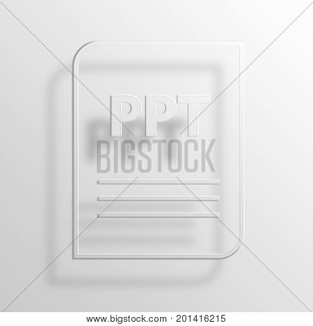 ppt 3D Rendering Paper Icon Symbol Business Concept