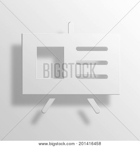 presentation 3D Pape Rendering  Icon Symbol Business Concept