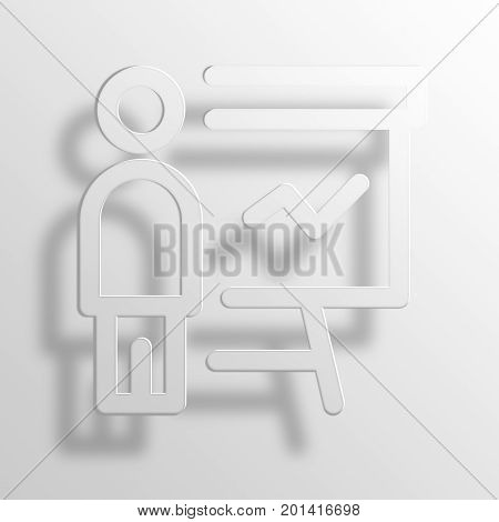 presentation 3D Rendering Paper Icon Symbol Business Concept