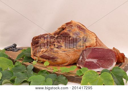 A smoked black forest ham delicacy from germany