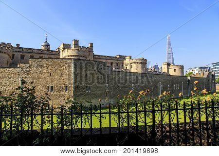 LONDON, GREAT BRITAIN - MAY 16, 2014: The Tower of London is one of England's oldest buildings occupying a special place in the history of the English nation.