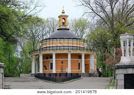 KIEV, UKRAINE - MAY 3, 2011: This is the Greek Catholic Church of St. Nicholas which is located in the legendary tract of Askold's Grave.