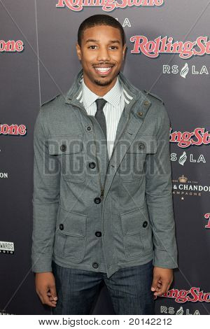 HOLLYWOOD, CA. - NOV 21: Michael B. Jordan arrives at the 2010 American Music Awards Rolling Stone Magazine VIP Party at Rolling Stone Restaurant and Lounge on November 21, 2010 in Hollywood, Ca.