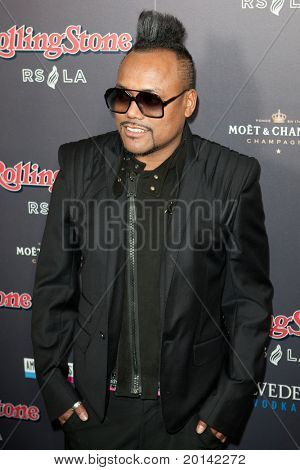HOLLYWOOD, CA. - NOV 21: Apl.de.ap arrives at the 2010 American Music Awards Rolling Stone Magazine VIP After Party at Rolling Stone Restaurant and Lounge on November 21, 2010 in Hollywood, Ca.