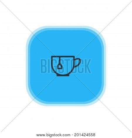 Beautiful Kitchenware Element Also Can Be Used As Mug Element.  Vector Illustration Of Tea Cup Icon.