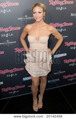 HOLLYWOOD, CA. - NOV 21: Brittany Snow arrives at the 2010 American Music Awards Rolling Stone Magazine VIP After Party at Rolling Stone Restaurant and Lounge on November 21, 2010 in Hollywood, Ca.