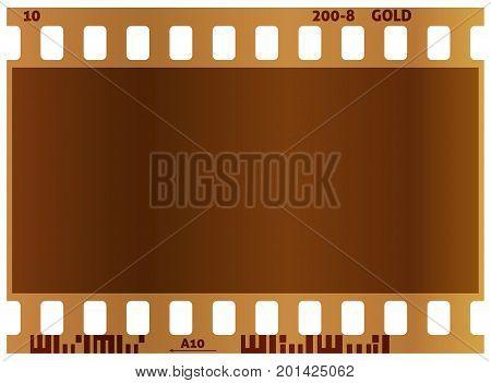 Film strip. Real color vector illustration. White background.