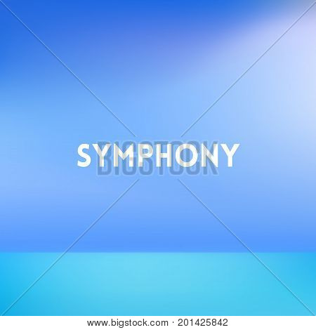 square blue blurred background - modern colors - symphony