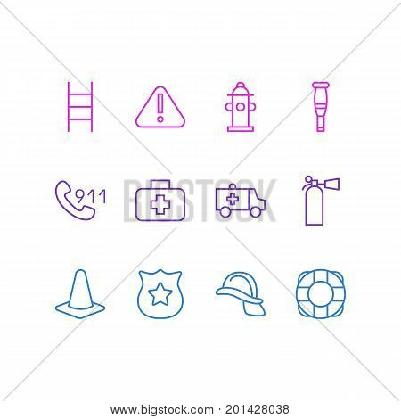 Editable Pack Of Water, Taper, Stairs And Other Elements.  Vector Illustration Of 12 Extra Icons.