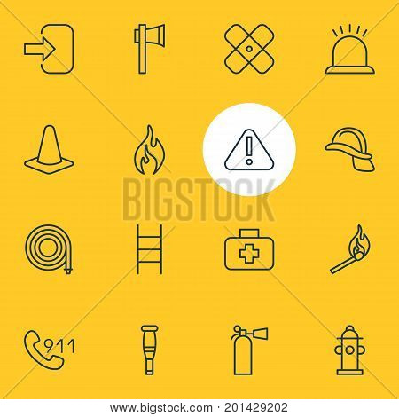 Editable Pack Of Exclamation, Medical Case, Water And Other Elements.  Vector Illustration Of 16 Necessity Icons.
