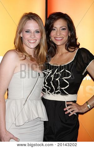 LOS ANGELES - MAY 14:  Katie Leclerc, Constance Marie at the Disney ABC Television Group May Press Junket 2011 at ABC Building on May 14, 2011 in Burbank, CA