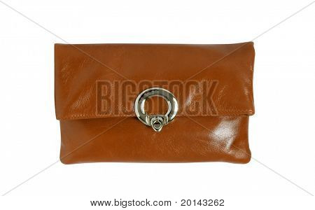 leather handbag isolated with clipping paths