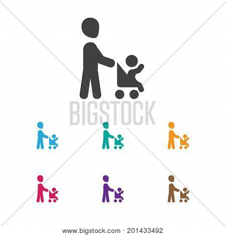 Vector Illustration Of Folks Symbol On Daddy Icon