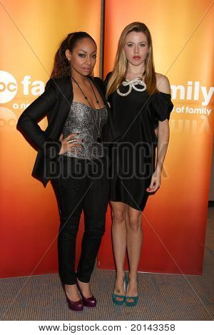LOS ANGELES - MAY 14:  Raven-Symone, Majandra Delfino at the Disney ABC Television Group May Press Junket 2011 at ABC Building on May 14, 2011 in Burbank, CA