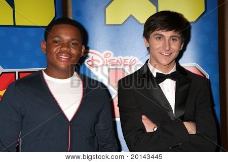 LOS ANGELES - MAY 14:  Doc Shaw, Mitchel Musso at the Disney ABC Television Group May Press Junket 2011 at ABC Building on May 14, 2011 in Burbank, CA