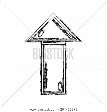 figure business arrow to marketing strategy information vector illustration