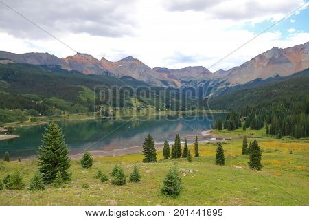 Mountain views between Rico and Telluride in summer time