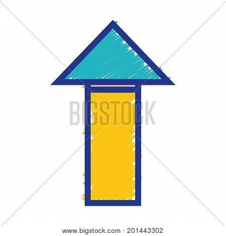 business arrow to marketing strategy information vector illustration