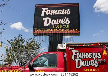 Indianapolis - Circa August 2017: Famous Dave's Bar-B-Que Restaurant location. Famous Daves has been listed on the NASDAQ since 1996 II