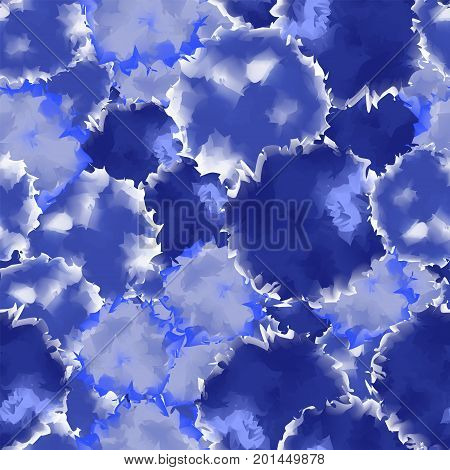 Indigo Seamless Watercolor Texture Background. Fetching Abstract Indigo Seamless Watercolor Texture