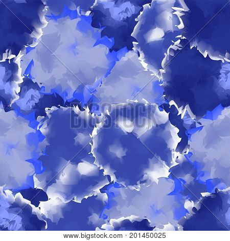 Indigo Seamless Watercolor Texture Background. Pleasant Abstract Indigo Seamless Watercolor Texture