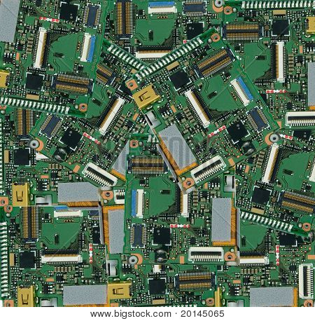 old camera circuit board