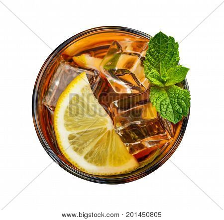 Glass Of Lemon Ice Tea