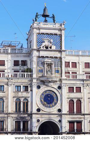 St. Mark's Clocktower - Piazza San Marco in Venice. Venice Veneto Italy