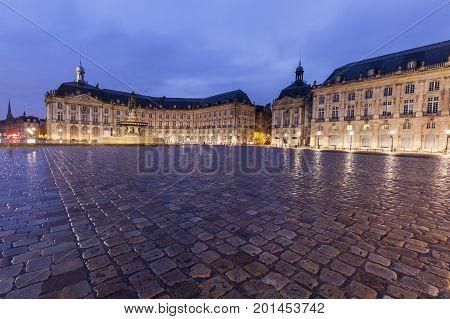Place de la Bourse in Bordeaux. Bordeaux Nouvelle-Aquitaine France. poster