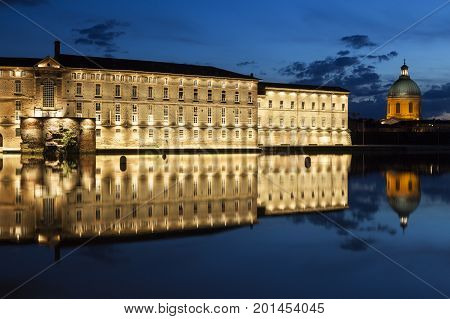 Hotel Dieu Saint Jacques - old hospital in Toulouse. Toulouse Occitanie France.