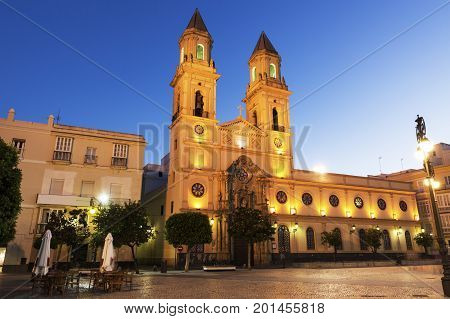 San Antonio Church in Cadiz. Cadiz Andalusia Spain.