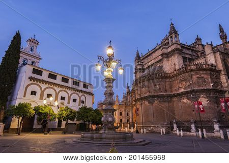 Seville Cathedral (Cathedral of Saint Mary of the See). Seville Andalusia Spain.