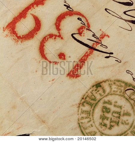 anonymous handwritten antique real old letters from Spain postmail