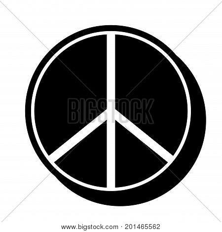 figure hippie peace and love symbol design vector illustration