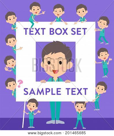 Surgical Operation Green Wear Men_text Box