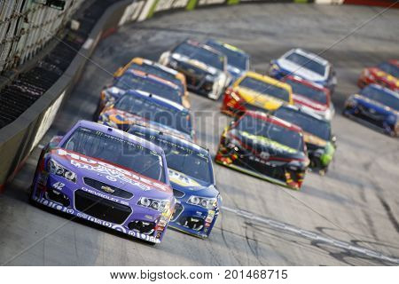 August 19, 2017 - Bristol, Tennessee, USA: Kyle Larson (42) brings his race car down the front stretch during the Bass Pro Shops NRA Night Race at Bristol Motor Speedway in Bristol, Tennessee.