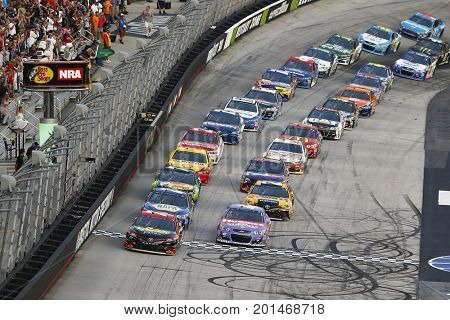 August 19, 2017 - Bristol, Tennessee, USA: Erik Jones (77) leads the field to the green flag to start the Bass Pro Shops NRA Night Race at Bristol Motor Speedway in Bristol, Tennessee.