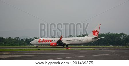 Airplane At Yogyakarta Airport In Indonesia
