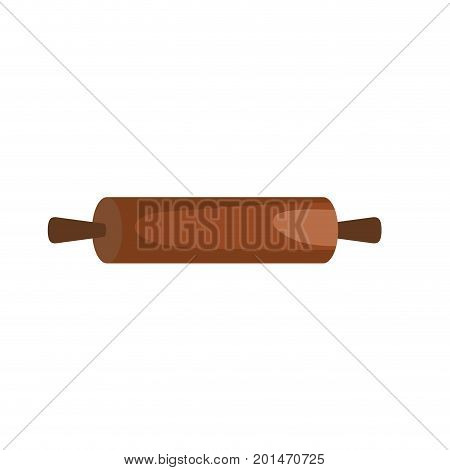 rolling pin kitchen utensil object to cuisine vector illustration