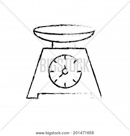 figure bascule kitchen utensil object to cuisine vector illustration