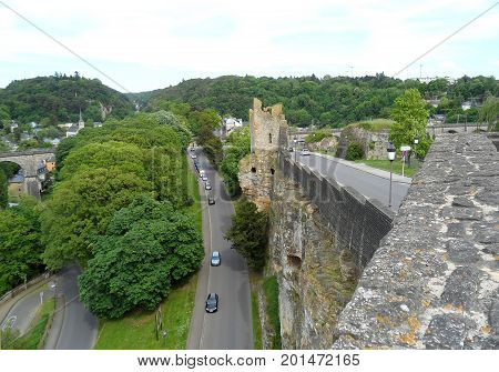 The Hollow Tooth' Ruin View from the Bock Casemates, Upper Town of Luxembourg City, Luxembourg
