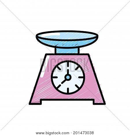 bascule kitchen utensil object to cuisine vector illustration