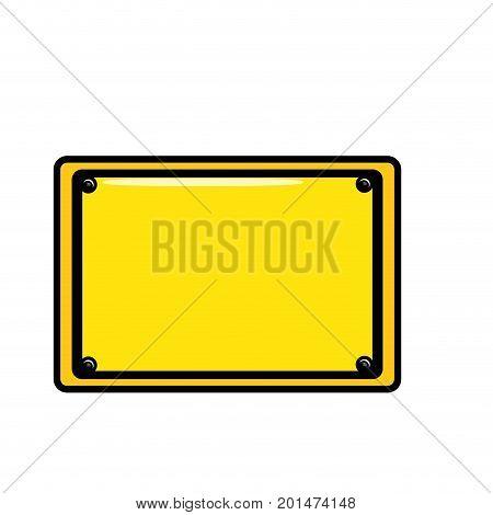 metal emblem notices and frame design vector illustration